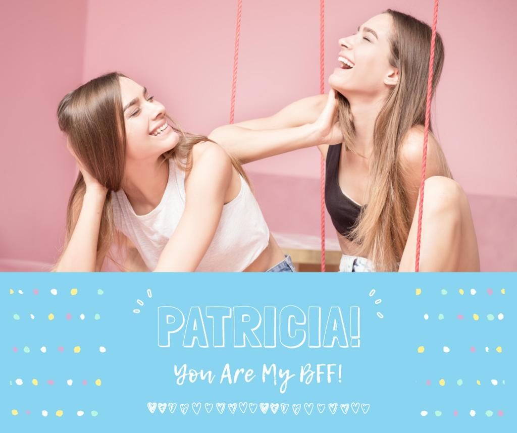 Female Friendship Concept Girls having fun — ein Design erstellen