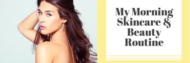Szablon projektu Skincare & Beauty routine youtube channel Twitter