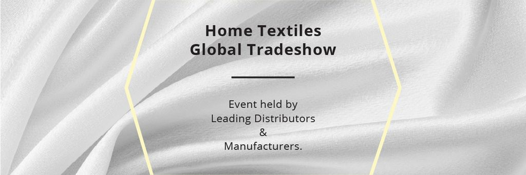 Home Textiles Events Announcement with White Silk — Создать дизайн