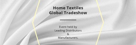 Plantilla de diseño de Home Textiles Events Announcement with White Silk Email header