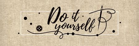 Plantilla de diseño de Do it yourself inspirational banner Twitter
