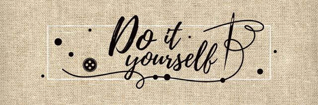 Do it yourself inspirational banner Twitterデザインテンプレート