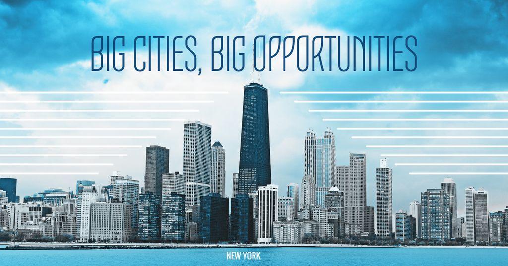 Big city opportunities with skyscrapers — Crear un diseño