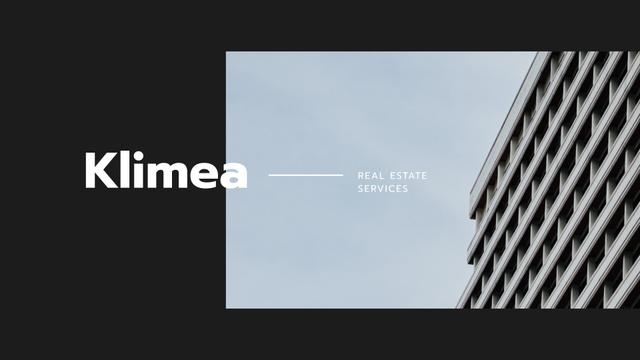 Real Estate Ad with Modern House Presentation Wide – шаблон для дизайна