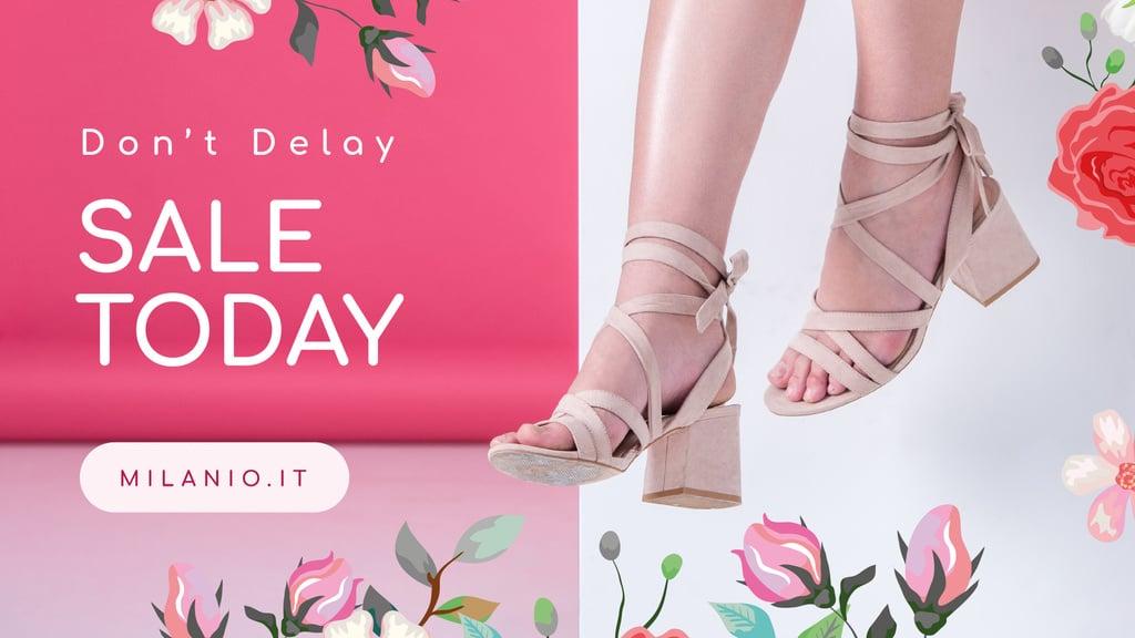Ontwerpsjabloon van FB event cover van Fashion Sale Woman in Heeled Shoes