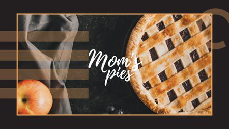 Template di design Baked pie with apple Youtube