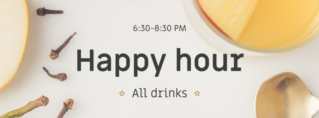 Happy Hours Offer White Mulled Wine — Maak een ontwerp