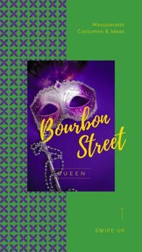 Mardi Gras Invitation Carnival Mask | Stories Template