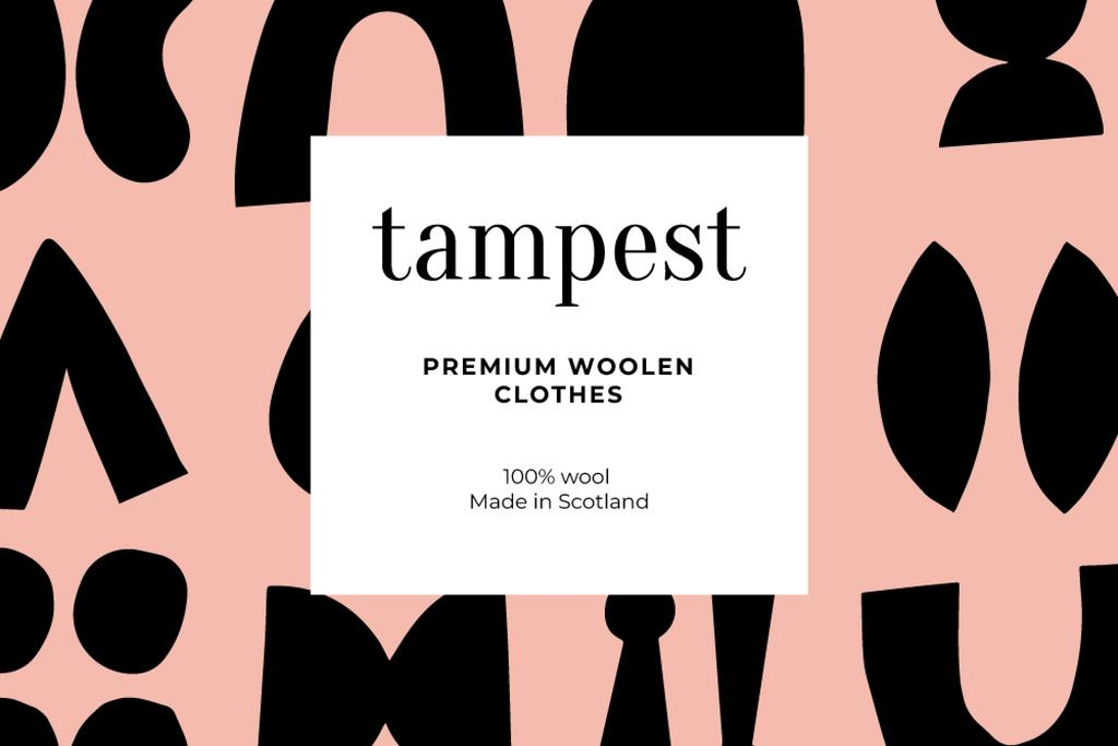 Woolen Clothes ad on abstract pattern — Crear un diseño