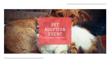 Pet Adoption Event Cute Dog and Cat | Youtube Channel Art