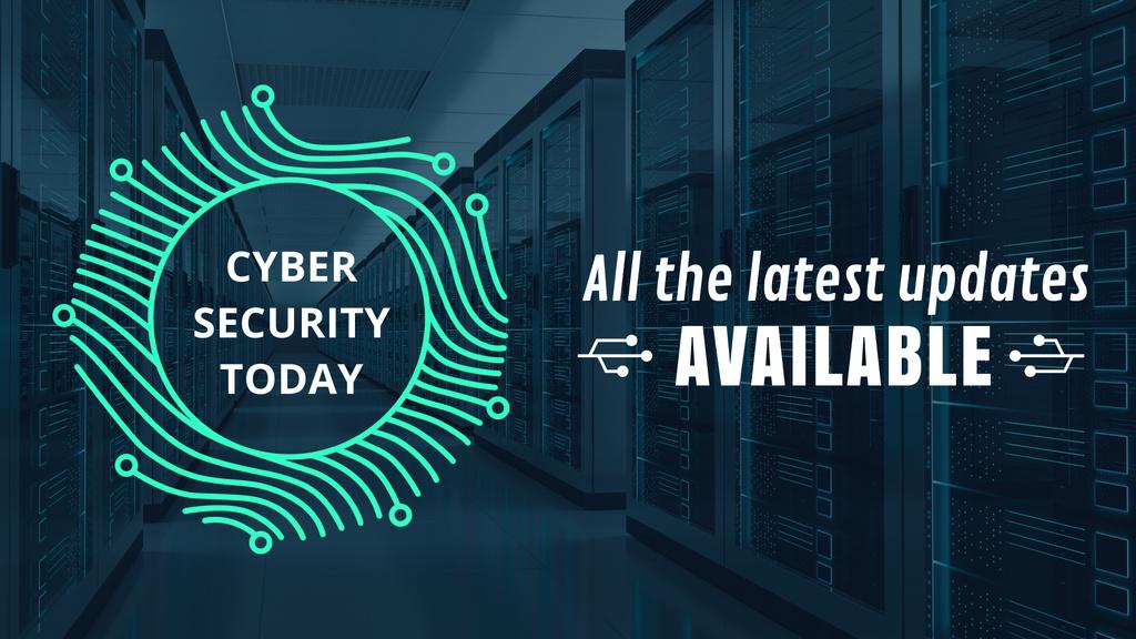 Cyber Security Digital Fingerprint Icon | Full Hd Video Template — ein Design erstellen