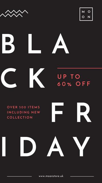 Black Friday Ad Minimalistic geometric lines Instagram Story – шаблон для дизайна