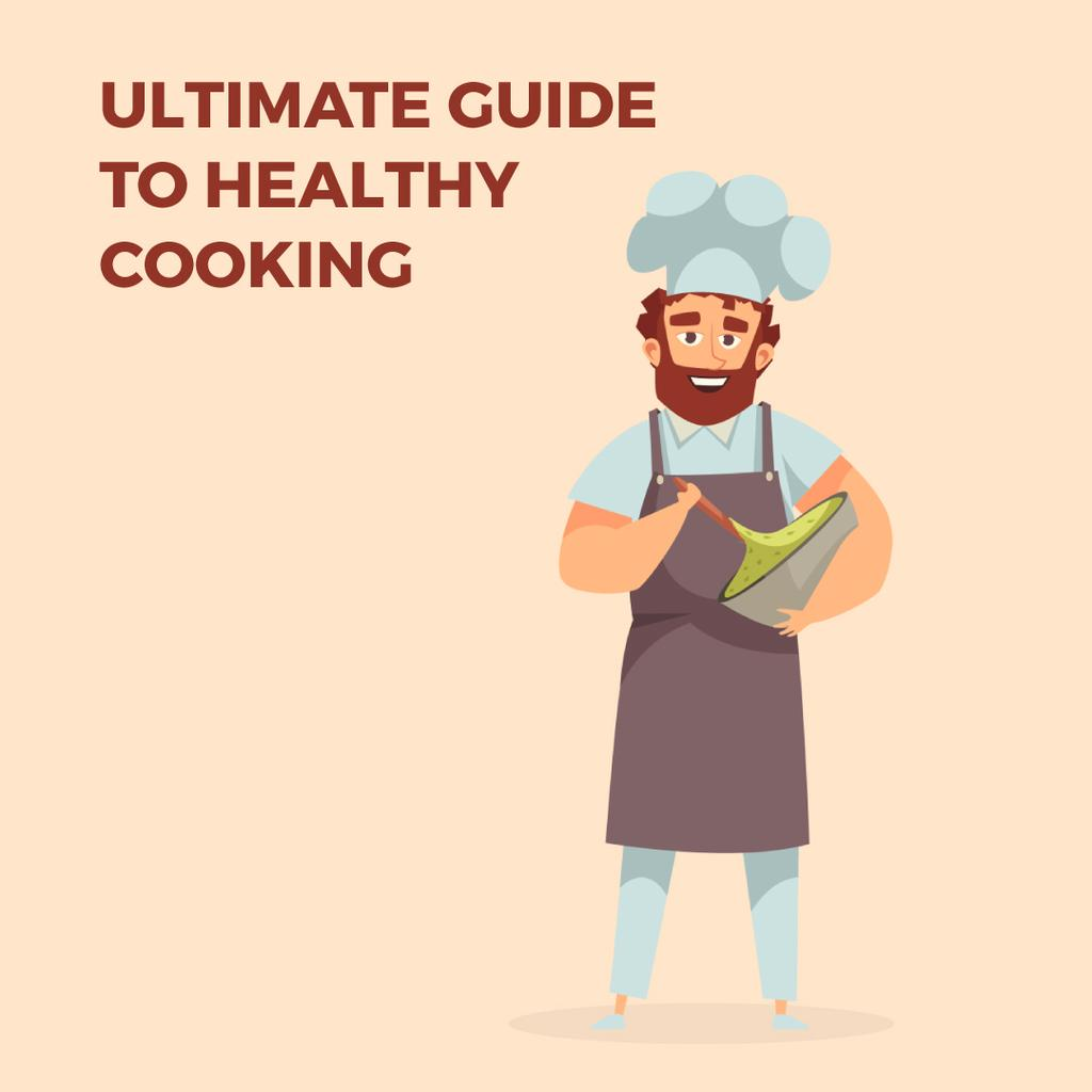 Chef cooking meal — Crea un design