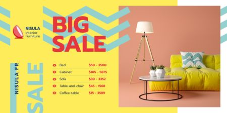 Plantilla de diseño de Cozy Home Offer Interior in Yellow Image