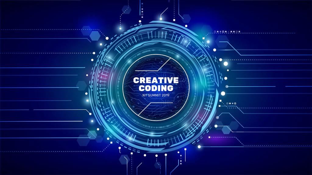 Glowing cyber circle — Maak een ontwerp
