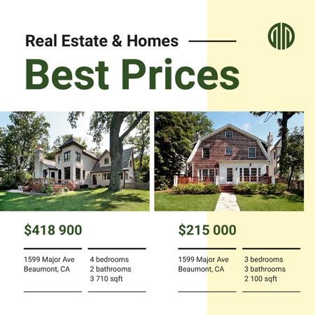 Modèle de visuel Real Estate Property Offer Cozy Houses - Instagram AD