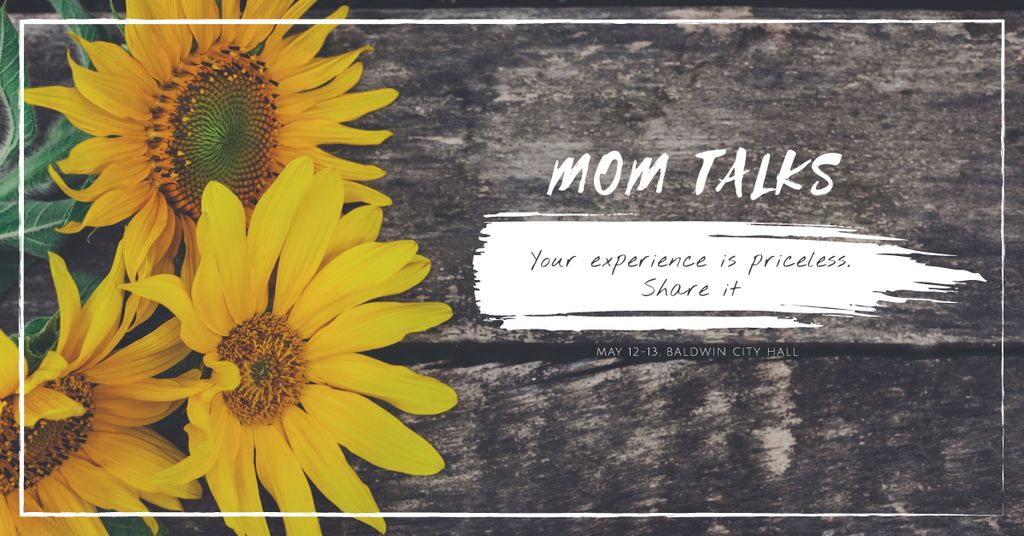 Mom talks with Sunflowers — Crea un design