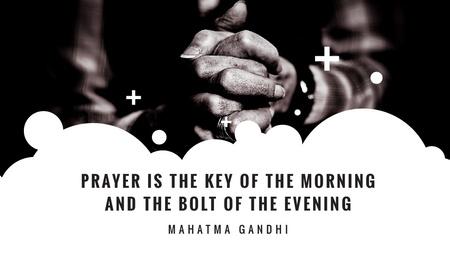 Template di design Hands Clasped in Religious Prayer Title