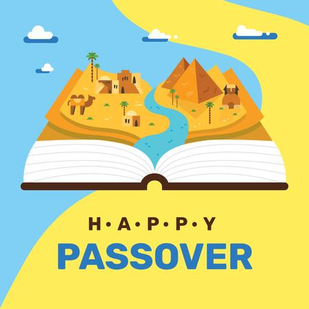 History of Passover holiday Instagram Modelo de Design
