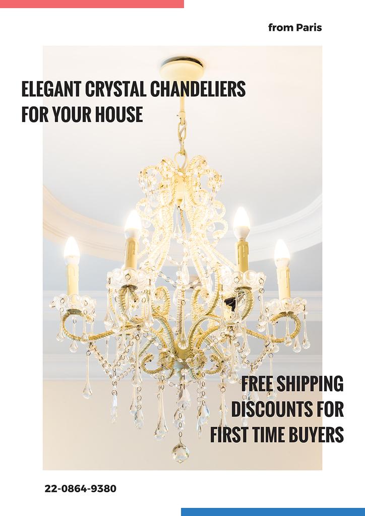 Elegant crystal chandeliers shop — Create a Design