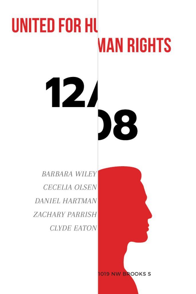 Human Rights Event Announcement Man's Silhouette — Créer un visuel