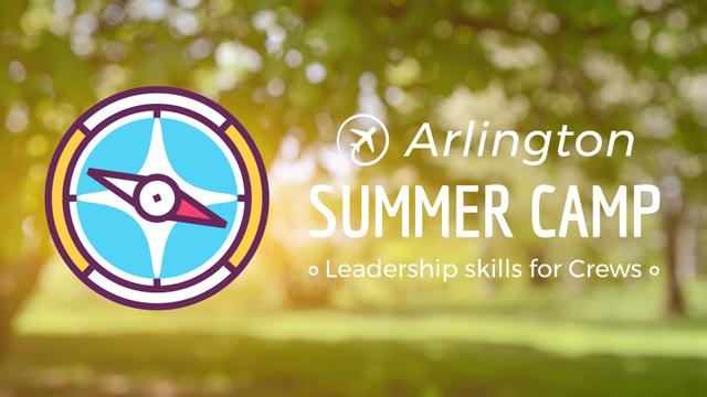 Ontwerpsjabloon van Full HD video van Summer Trip Offer Rotating Compass Arrows