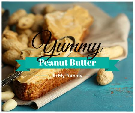 Template di design Delicious Sandwich with Peanut Butter Facebook