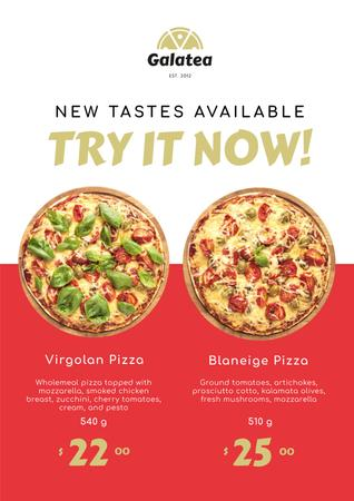 Template di design Italian Restaurant Promotion with Pizza Offer Poster