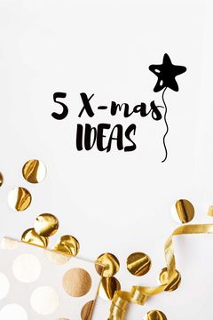 Christmas Decor ideas with golden confetti