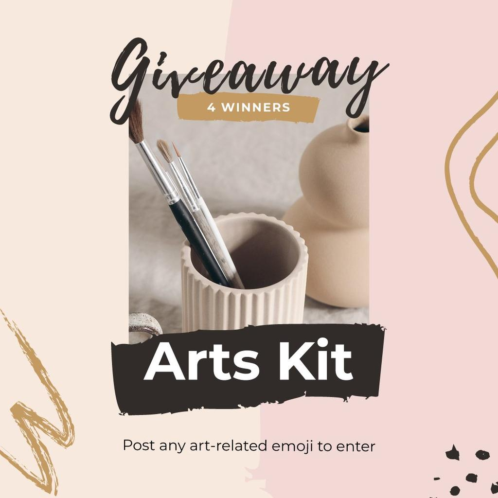 Szablon projektu Arts Kit Giveaway Offer Instagram