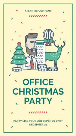 Christmas party in office Instagram Story Modelo de Design