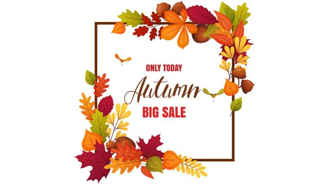 Autumn Sale Announcement in Leaves Frame Full HD video – шаблон для дизайну