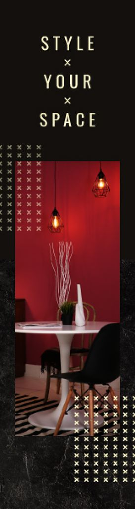 Stylish Dining Room in Red Tones — ein Design erstellen
