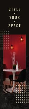 Stylish Dining Room in Red Tones