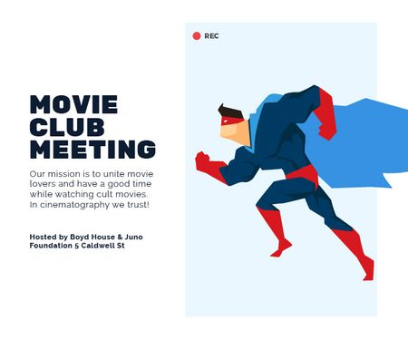 Movie club meeting Medium Rectangle Modelo de Design