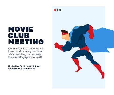 Ontwerpsjabloon van Medium Rectangle van Movie club meeting