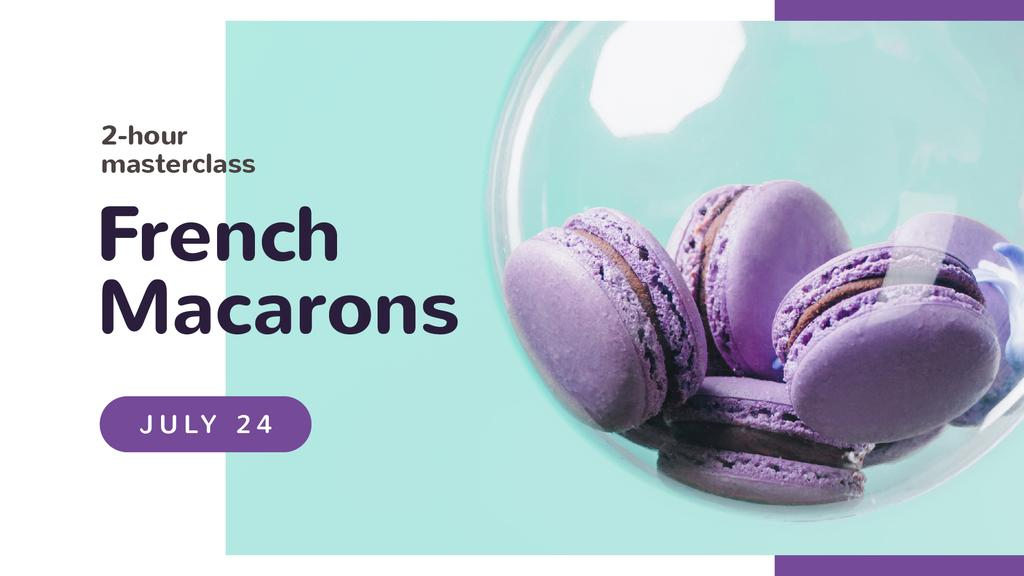 Bakery Masterclass Colorful Macarons in Purple — Crear un diseño