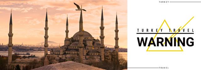 Plantilla de diseño de Tour Invitation with Turkey Famous Travelling Spot Tumblr