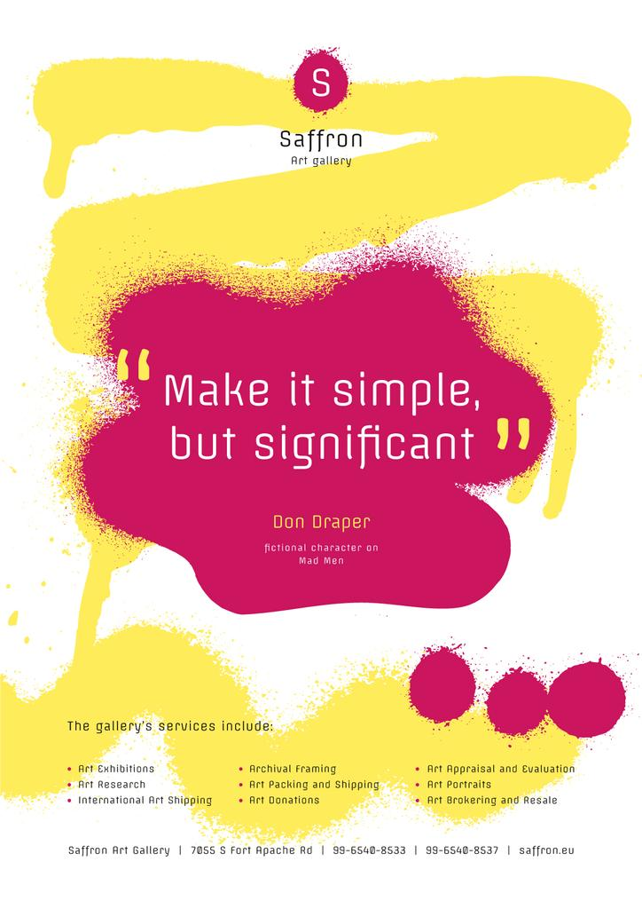 Art Quote on Sprayed Paint Background | Poster Template — Modelo de projeto