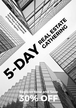 Real Estate Exhibition Glass Skyscrapers | Poster Template