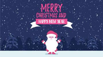 Christmas Greeting Funny Jumping Santa Claus