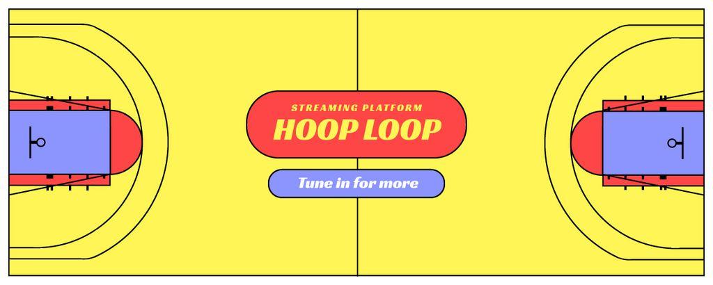 Streaming Platform Ad on Yellow — ein Design erstellen
