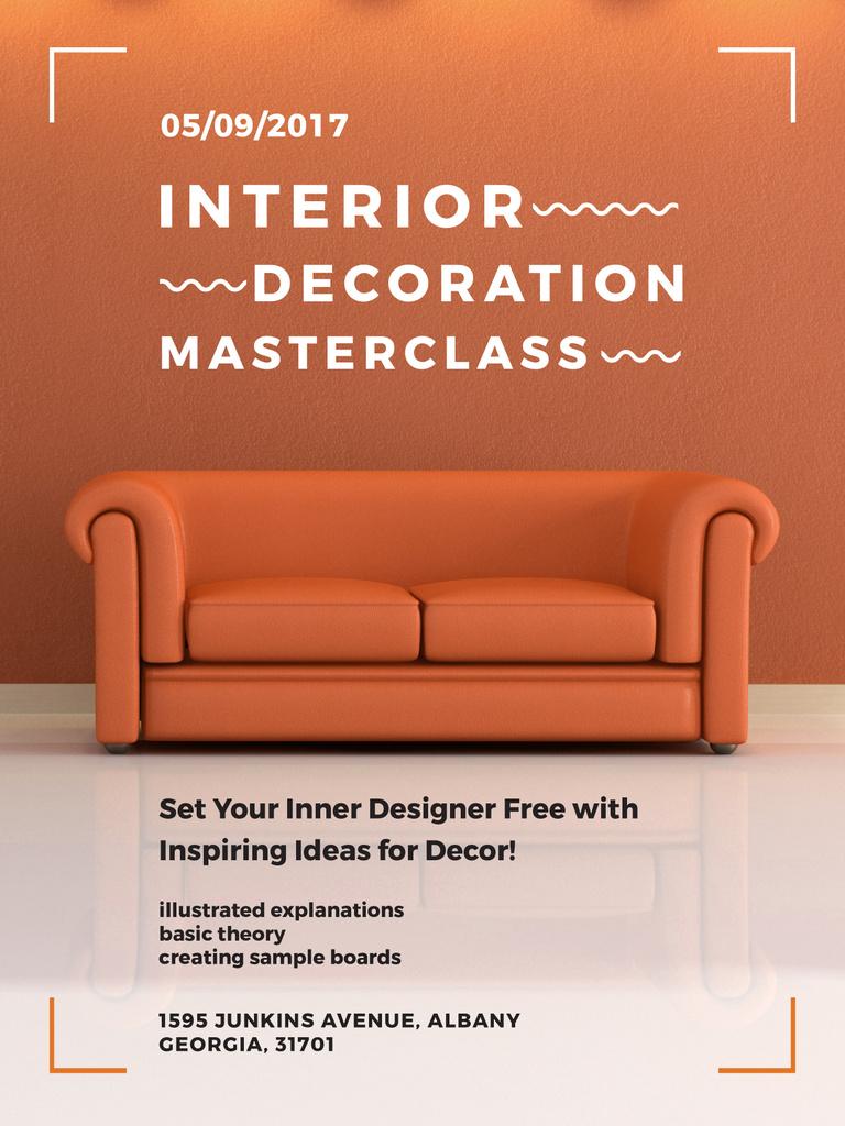 Interior decoration masterclass with Sofa in red — Maak een ontwerp
