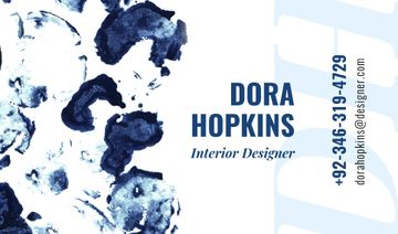 Interior Designer Contacts Ink Blots in Blue