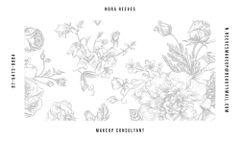 Flowers Illustration in Contour