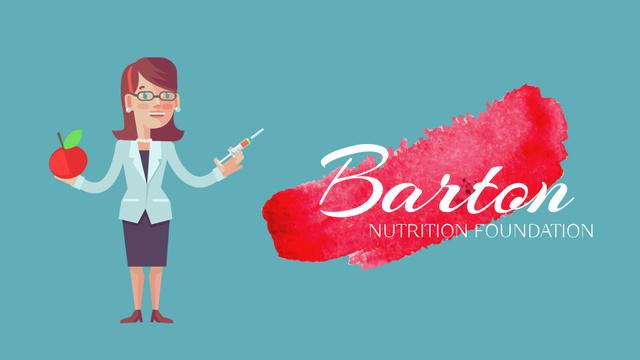 Plantilla de diseño de Nutrition Science Woman Injecting Syringe in Apple Full HD video