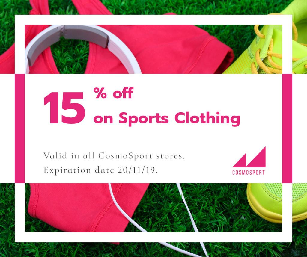 Sports clothing sale advertisment — Crear un diseño