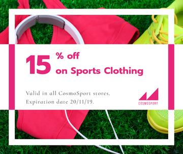 Sports clothing sale advertisment