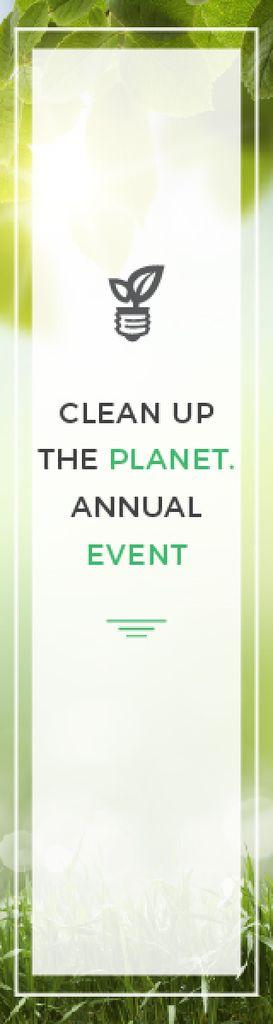 Eco Event Light Bulb with Leaves — Crear un diseño