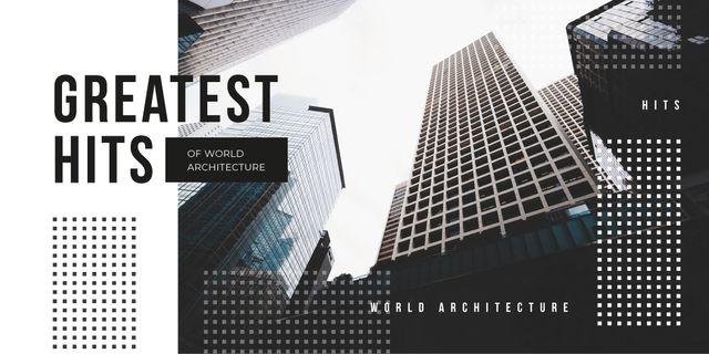Ontwerpsjabloon van Image van Modern glass buildings